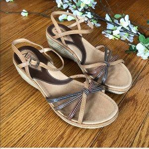 Clarks Artisan Espadrille Wedge Sandals